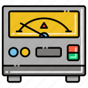 analog, dc, power, supply icon