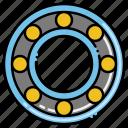 ball, bearings, circle, rotation