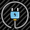 cable, electronics, plug, power