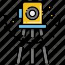 equipment, geodetic, measurement device, tacheometer icon