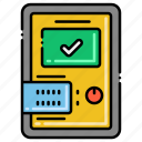 device, ic, mobile, tester icon