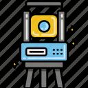 geodetic, tacheometer, tool icon