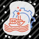 engineer, engineering, marine, maritime, navigational, navy, technology icon