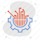 connections, electronics, engineer, engineering, integrated circuits, support, technology icon
