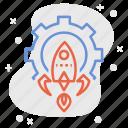 aerospace, engineer, engineering, roket, roket science, space engineering, technology icon