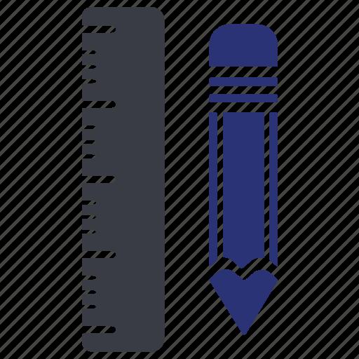 design, engineer, pen, pencil, ruler icon