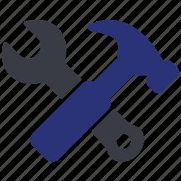 engineer, hammer, machine, options, repair, wrench icon