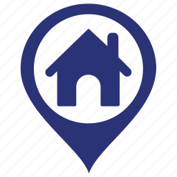 find, home, house, map, search icon