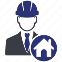 engineer, avatar, construction, home, house, manager, building icon