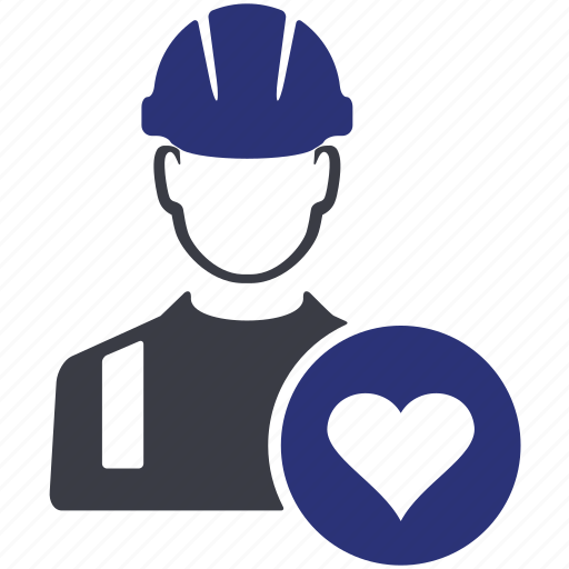 avatar, heart, like, man, people, user, worker icon
