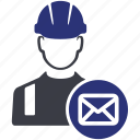 avatar, e mail, mail, people, user, worker icon