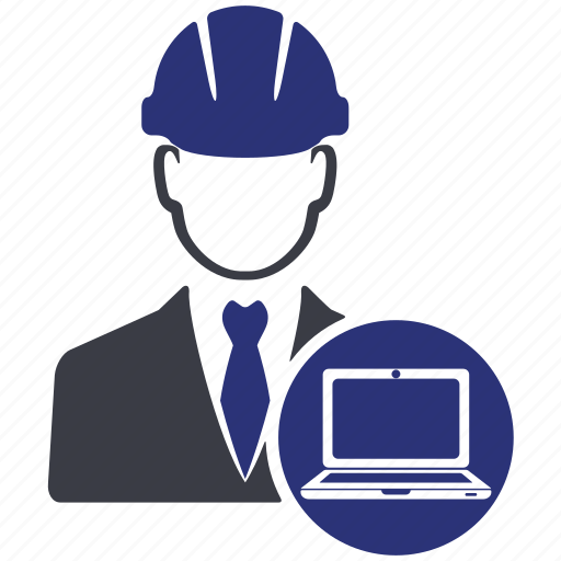 avatar, business, computer, engineer, laptop, manager, work icon