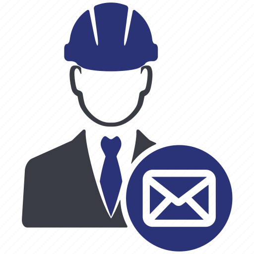 avatar, e mail, engineer, mail, man, manager, user icon