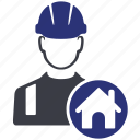 avatar, build, builder, construction, home, house, worker icon