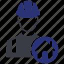 avatar, build, builder, home, house, worker, construction