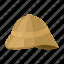 bowler hat, headdress, helmet, military, safari icon