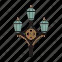 light, pillar, retro, street lamp icon