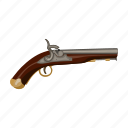 gun, old, retro, weapons icon
