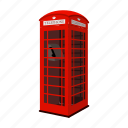 booth, english, phone, red icon
