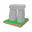 ancient, cartoon, england, heritage, landmark, stone, stonehenge icon