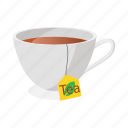 breakfast, cartoon, cup, drink, hot, mug, tea icon