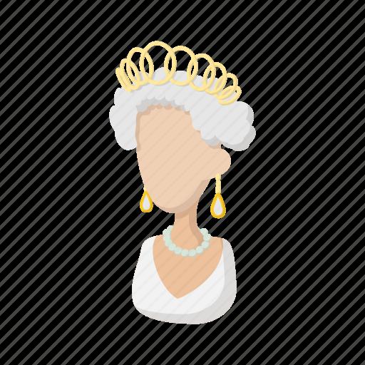 british, cartoon, elizabeth, england, english, queen, royal icon