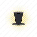 character, comics, cylinder, gentleman, hat, male, retro icon