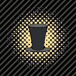 character, comics, cylinder, gentleman, hat, male, retro icon