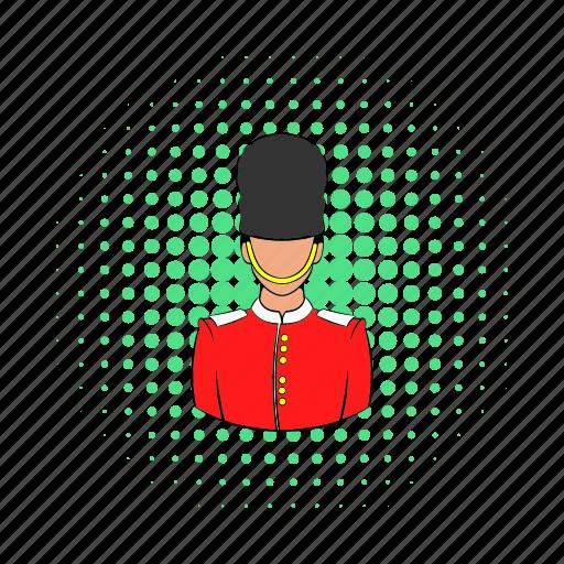 comics, england, guard, london, palace, soldier, uk icon
