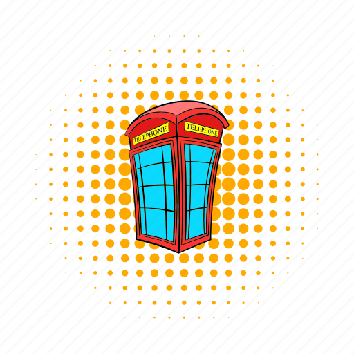 booth, comics, communication, england, english, red, telephone icon