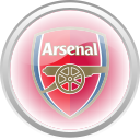 arsenal, flag, football, premier english icon