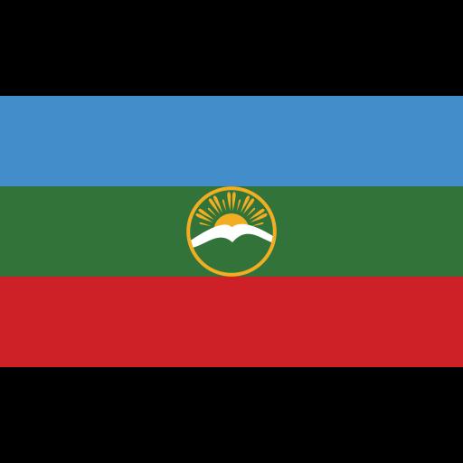 ensign, flag, karachay, nation icon