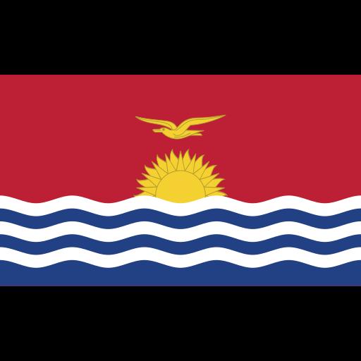 ensign, flag, kiribati, nation icon