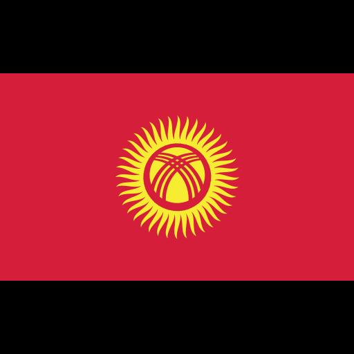 ensign, flag, kyrgyzstan, nation icon
