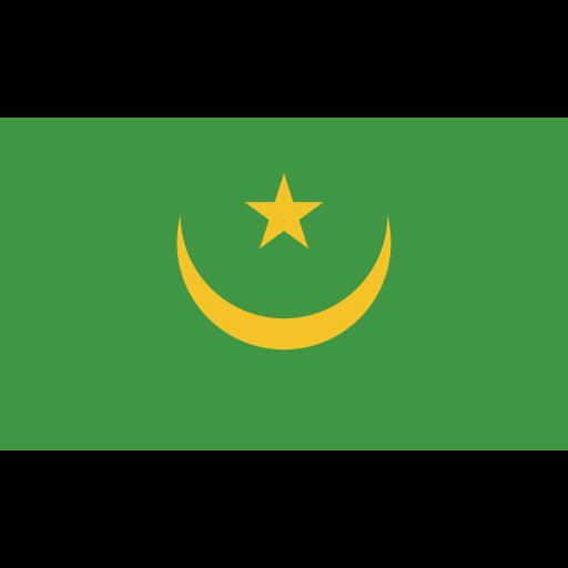 ensign, flag, mauritania, nation icon