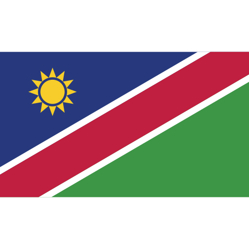ensign, flag, namibia, nation icon