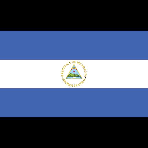 ensign, flag, nation, nicaragua icon