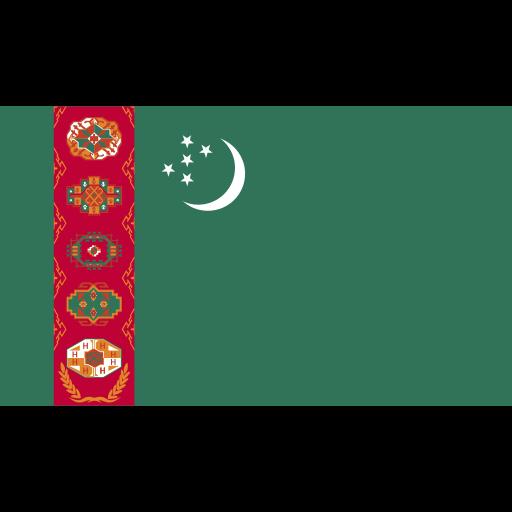 ensign, flag, nation, turkmenistan icon