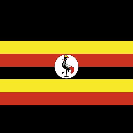 ensign, flag, nation, uganda icon