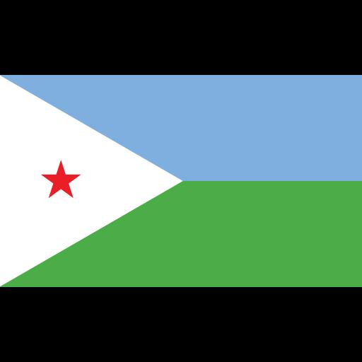 djibouti, ensign, flag, nation icon