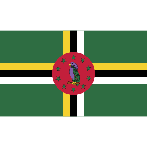 dominica, ensign, flag, nation icon