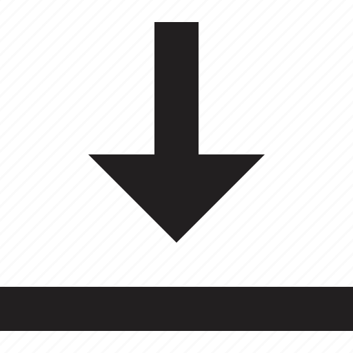 below, exit, sign icon