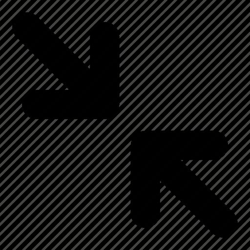 arrows, exit, exit fullscreen, fullscreen, minimize icon