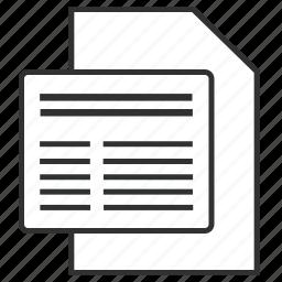 data, enterpeise architecture, file, info, meta, metadata, togaf icon