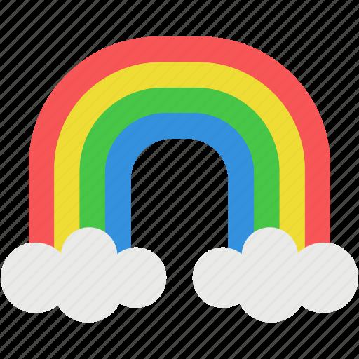 beautiful, cloud, color, rain, rainbow, sky, tools icon