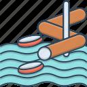 aqua, aqua park, park, slide, water, water park, water slide icon