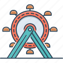 amusement, amusement park, ferris, ferris wheel, park, wheel icon