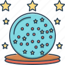 ball, glass, glass magic ball, magic, wizard icon