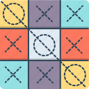 competition, crisis cross, cross, game, tic tac toe icon
