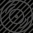 audio, music, note, vinyl icon